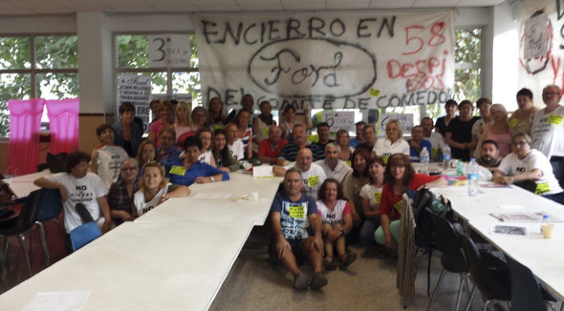 Los trabajadores de Sodexo finalizan el encierro y convocan manifestación en Valencia contra el ERE
