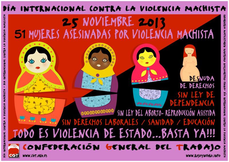 25-11-2013: Día Internacional contra la violencia machista