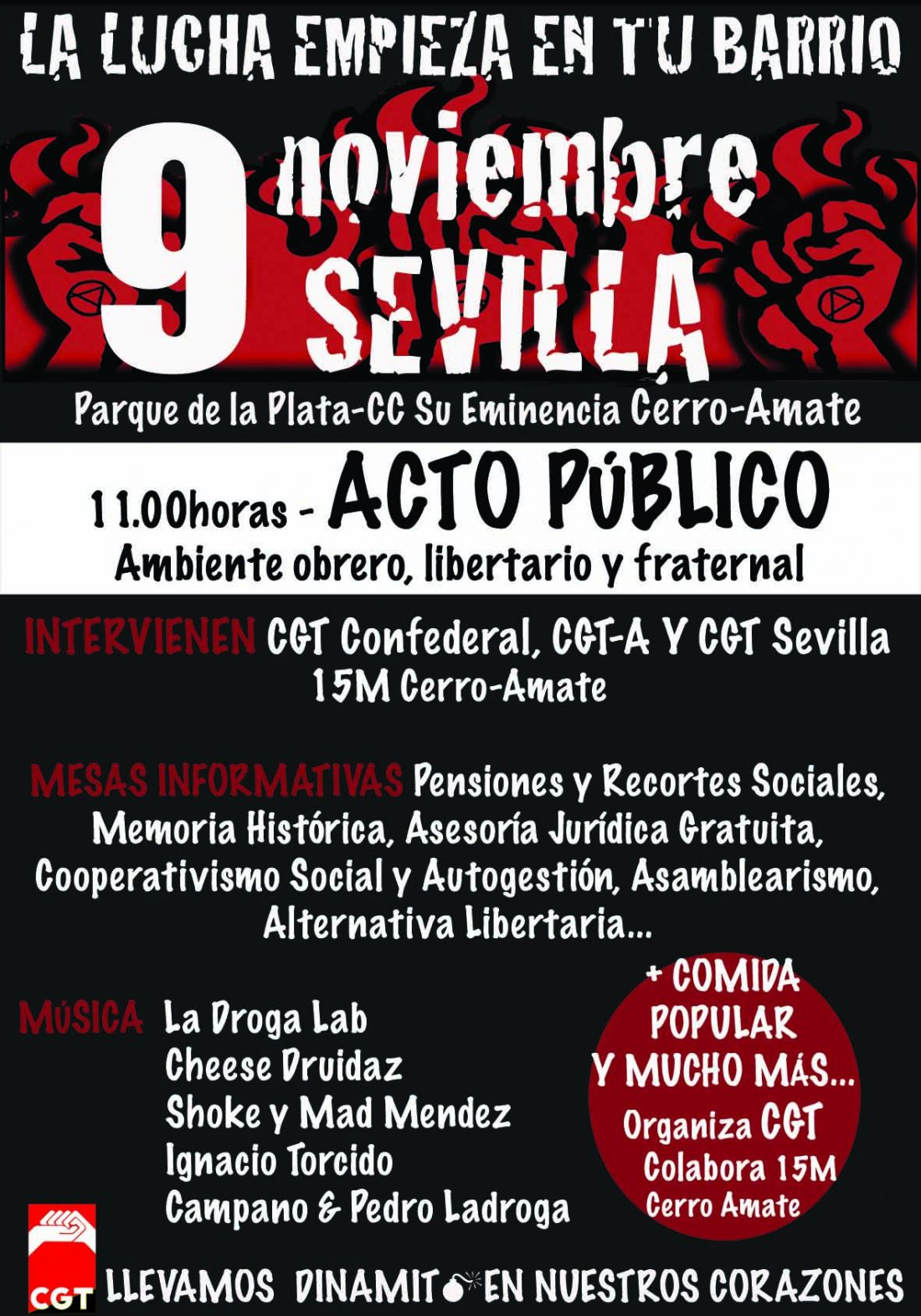 Acto Público organizado por la CGT Sevilla