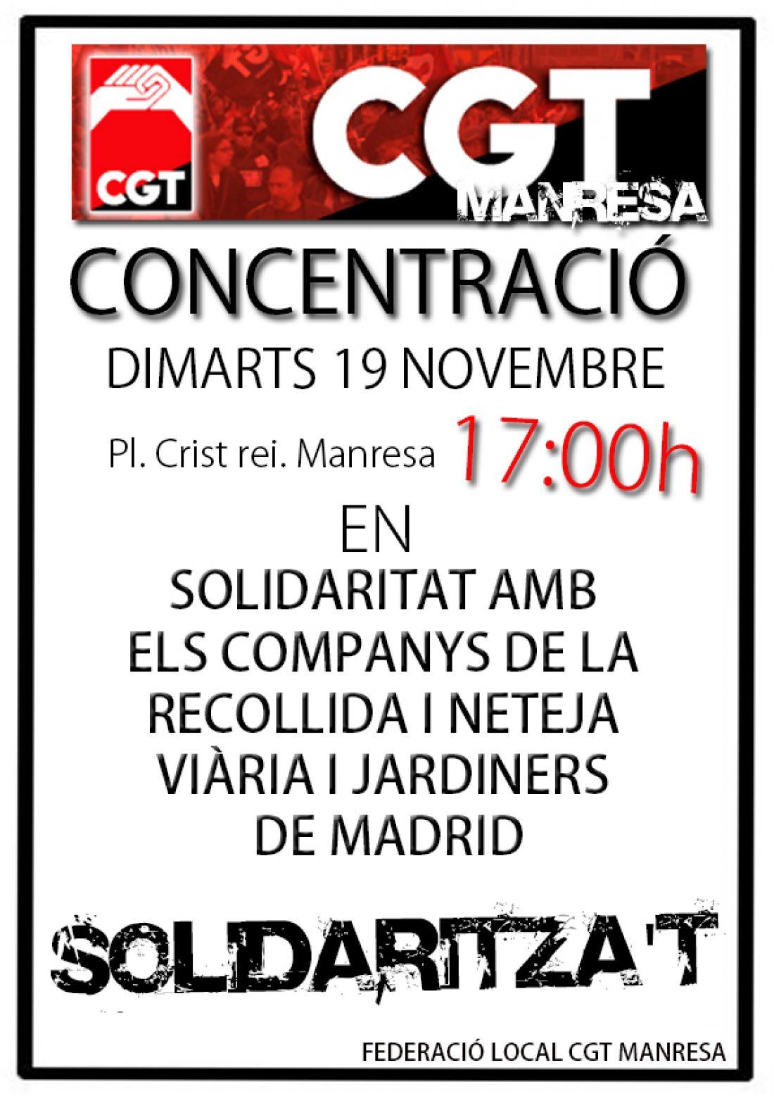Apoyo desde Catalunya a las/os compañeras/os de Madrid en lucha