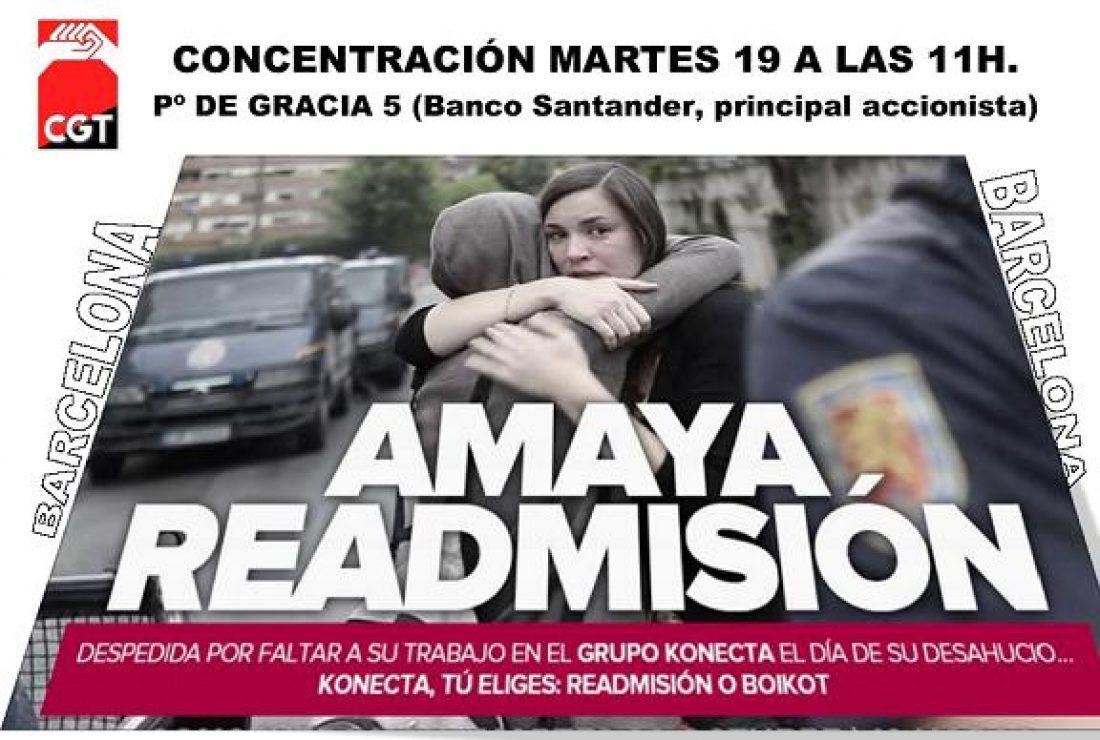 Concentración en Barcelona Amaya readmisión