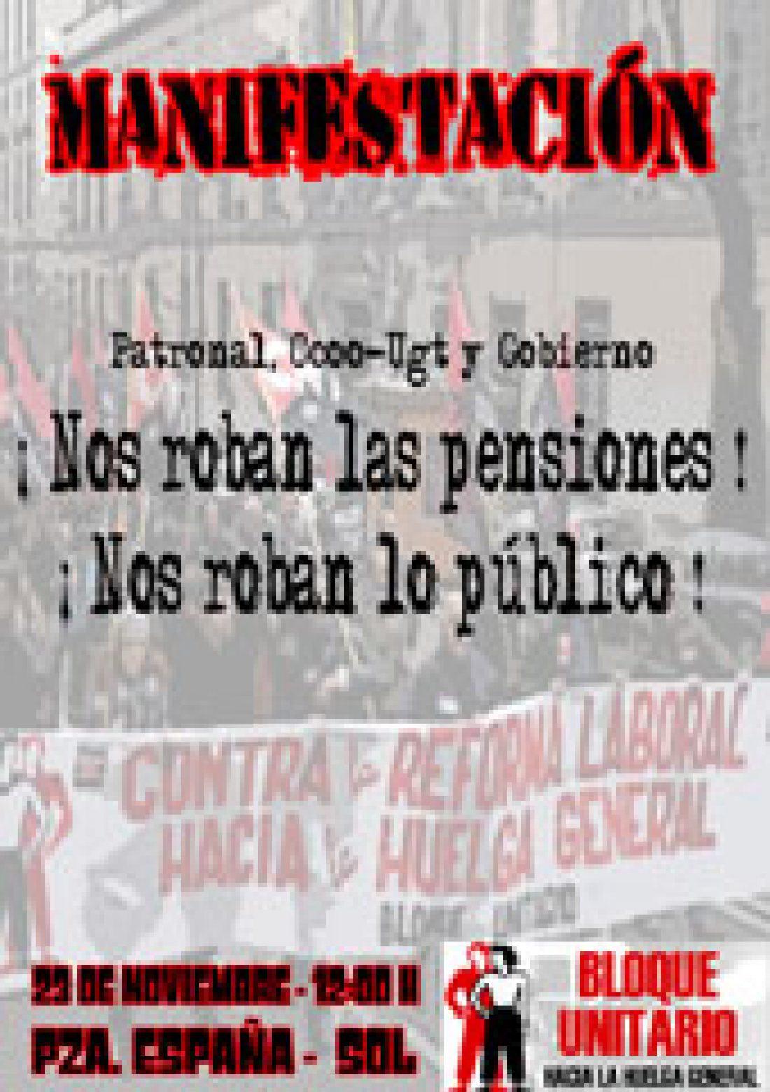 CGT apoya las manifestaciones del 23N