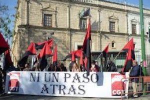 CGT-Andalucía apoya la lucha contra ERE en la huelga de limpieza de Madrid