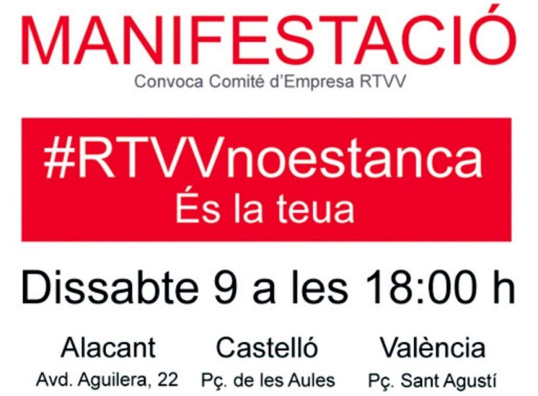 CGT-PV apuesta por la autogestión de RTVV  y llama a participar en las manifestaciones contra el cierre del ente público