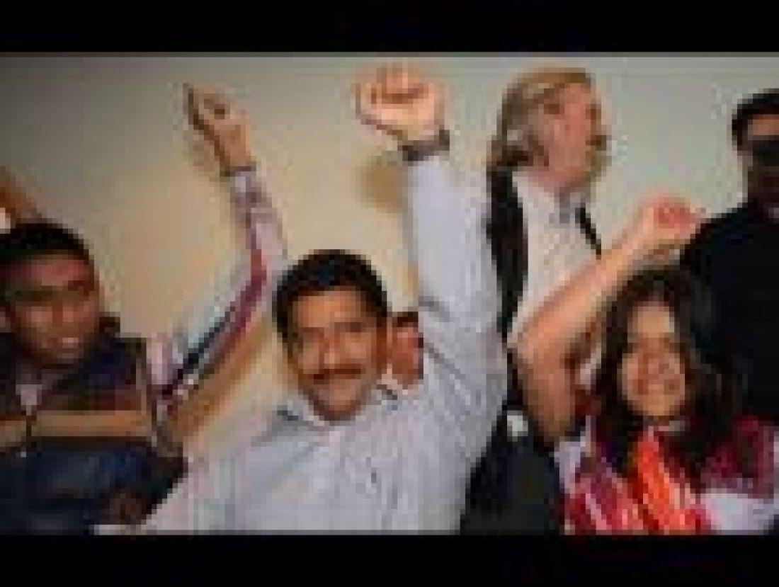 CGT festeja la libertad del Profe Patishtán