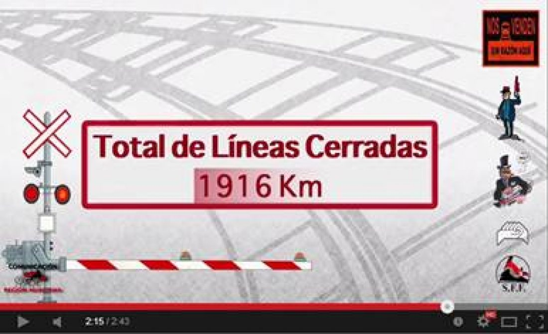 Video: Líneas de ferrocarril cerradas