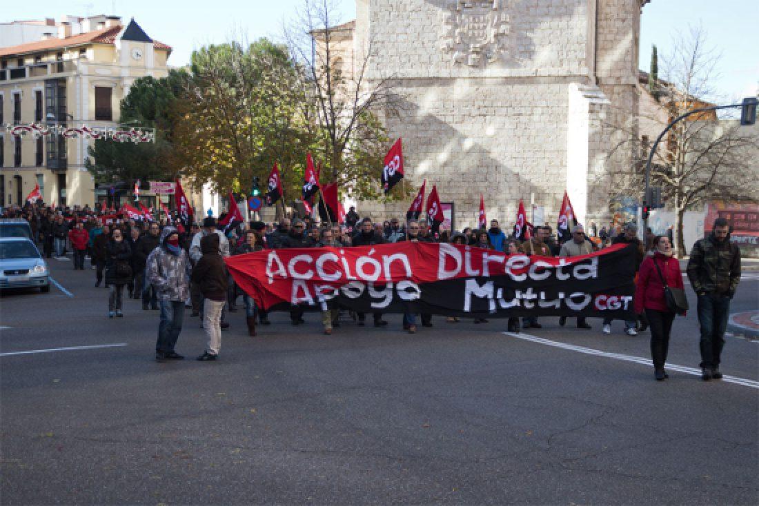Manifestación en Valladolid en contra de la Reforma de las Pensiones