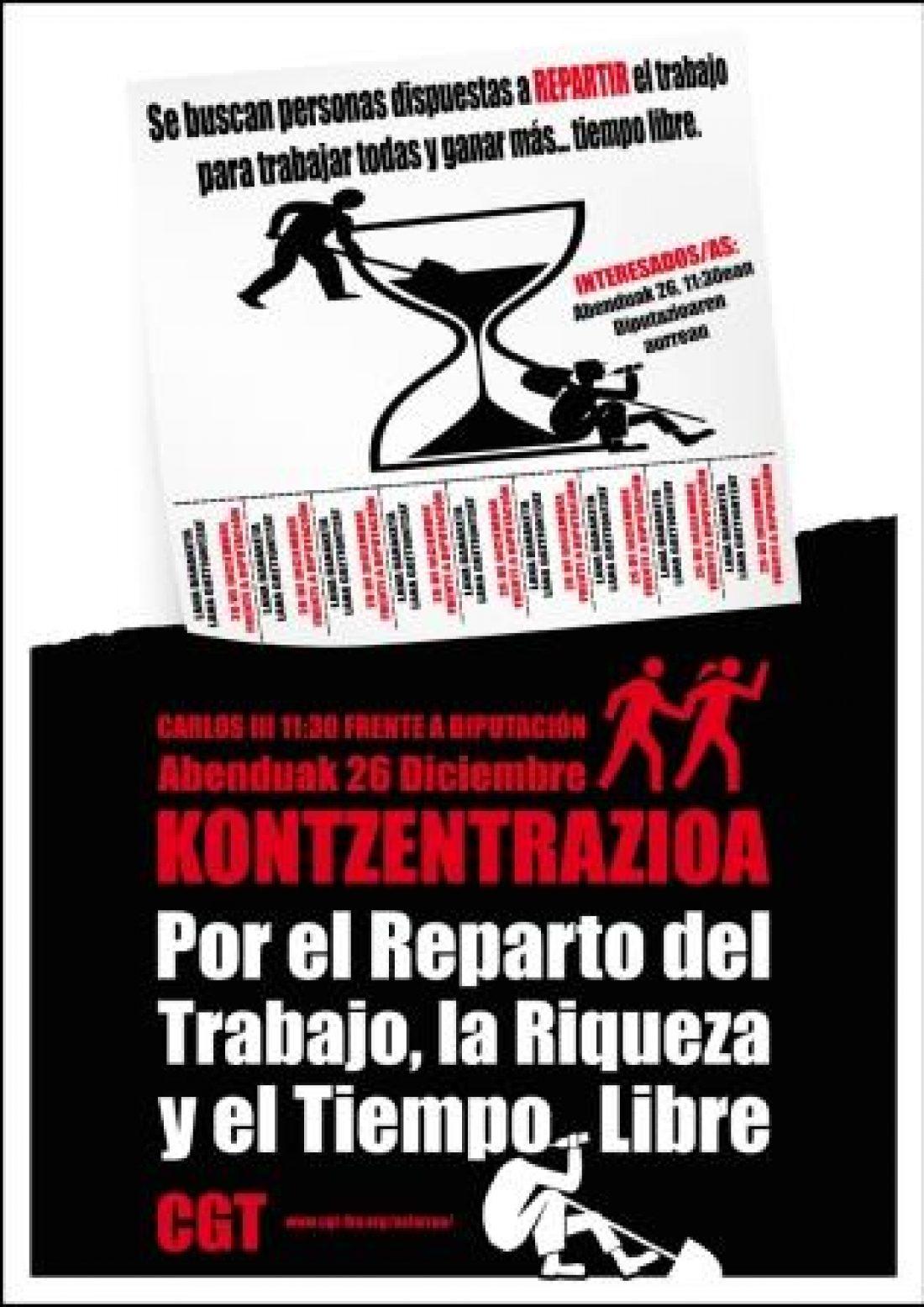 Campaña de CGT/LKN Nafarroa por el reparto de los trabajos