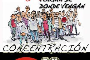 El 18 a las 18.00 horas, todas y todos a las puertas del Parlamento andaluz contra los Presupuestos