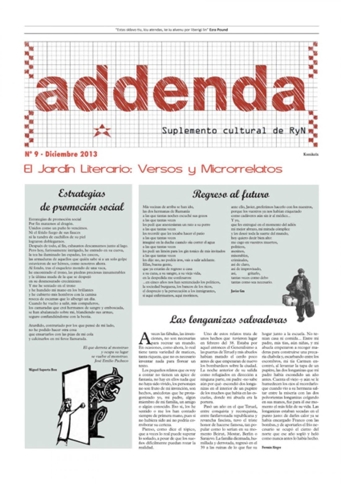 Addenda, suplemento cultural del RyN – Nº 9, diciembre 2013
