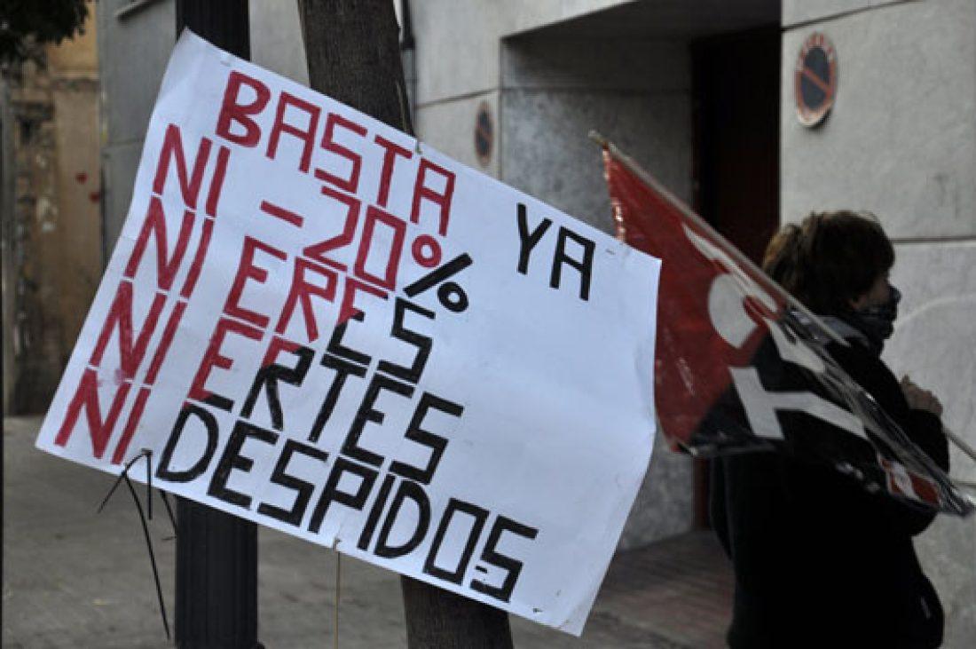 Concentración en Valencia ante Unipost con motivo de la huelga indefinida
