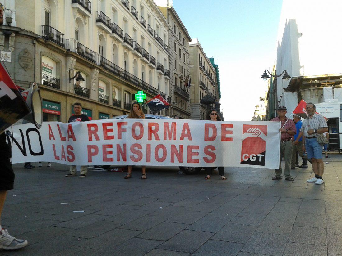 CGT califica de robo la Ley que regula las pensiones