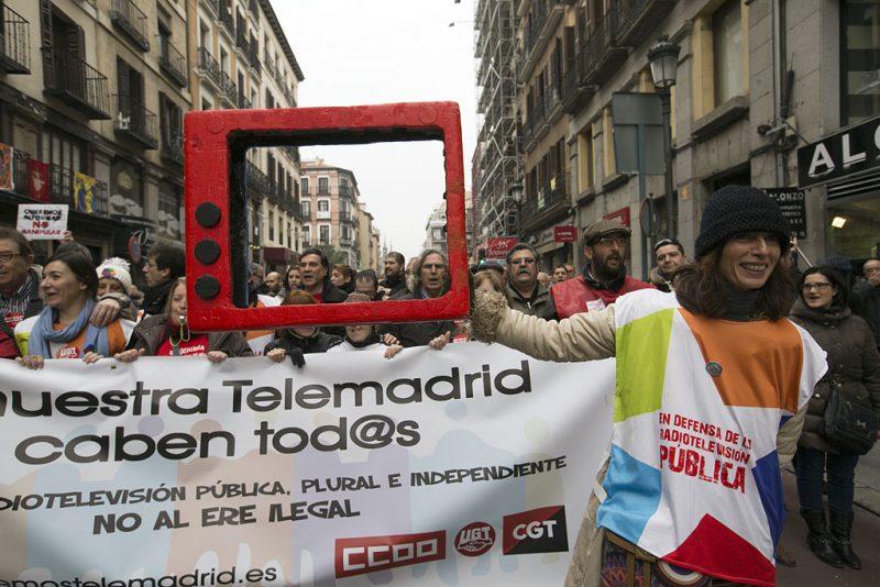 Manifestación en defensa de Telemadrid y contra el ERE en su primer aniversario - Imagen-9