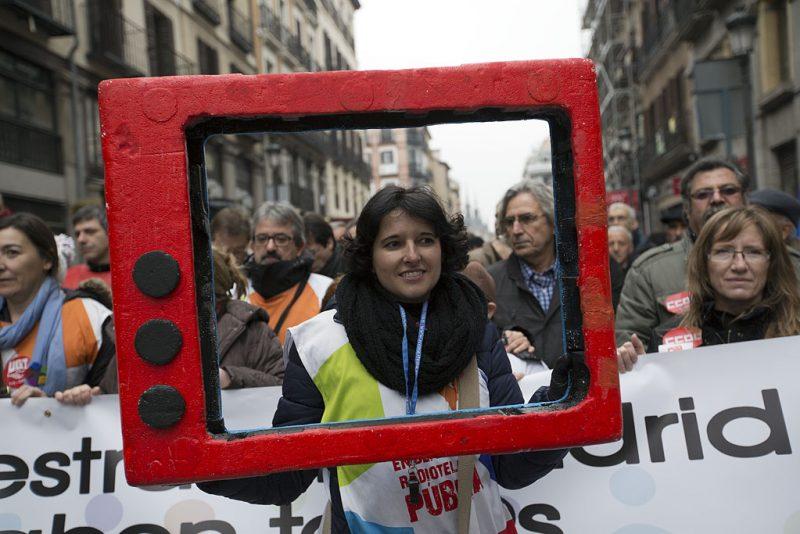Manifestación en defensa de Telemadrid y contra el ERE en su primer aniversario - Imagen-10