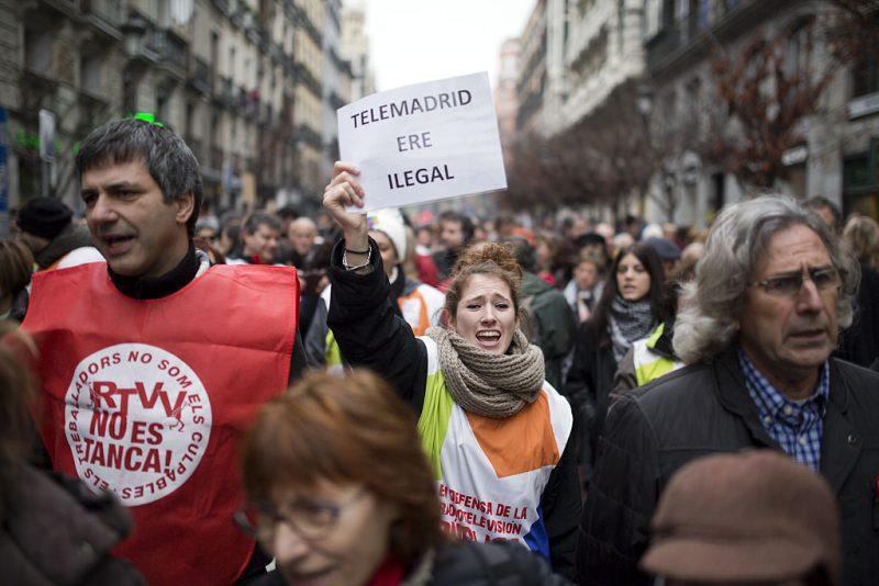 Manifestación en defensa de Telemadrid y contra el ERE en su primer aniversario - Imagen-11