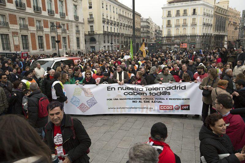Manifestación en defensa de Telemadrid y contra el ERE en su primer aniversario - Imagen-12