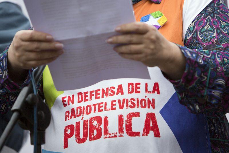 Manifestación en defensa de Telemadrid y contra el ERE en su primer aniversario - Imagen-13