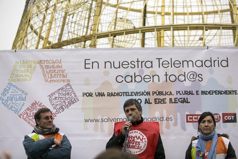 Manifestación en defensa de Telemadrid y contra el ERE en su primer aniversario - Imagen-14