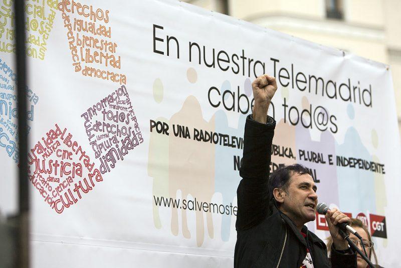 Manifestación en defensa de Telemadrid y contra el ERE en su primer aniversario - Imagen-15