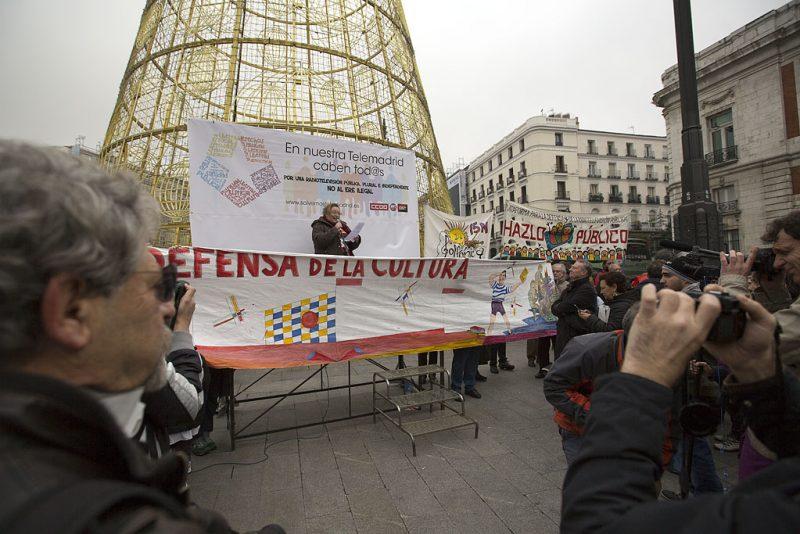 Manifestación en defensa de Telemadrid y contra el ERE en su primer aniversario - Imagen-17