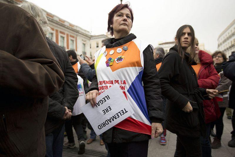 Manifestación en defensa de Telemadrid y contra el ERE en su primer aniversario - Imagen-16