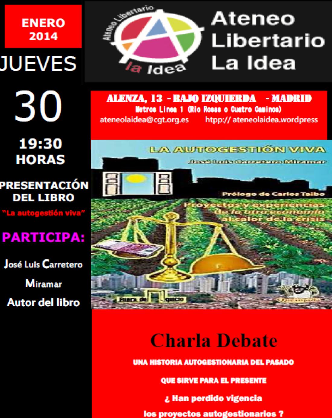 Ateneo La Idea: Presentación «Autogestion Viva»
