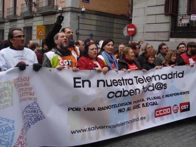 Manifestación en defensa de Telemadrid y contra el ERE en su primer aniversario - Imagen-1