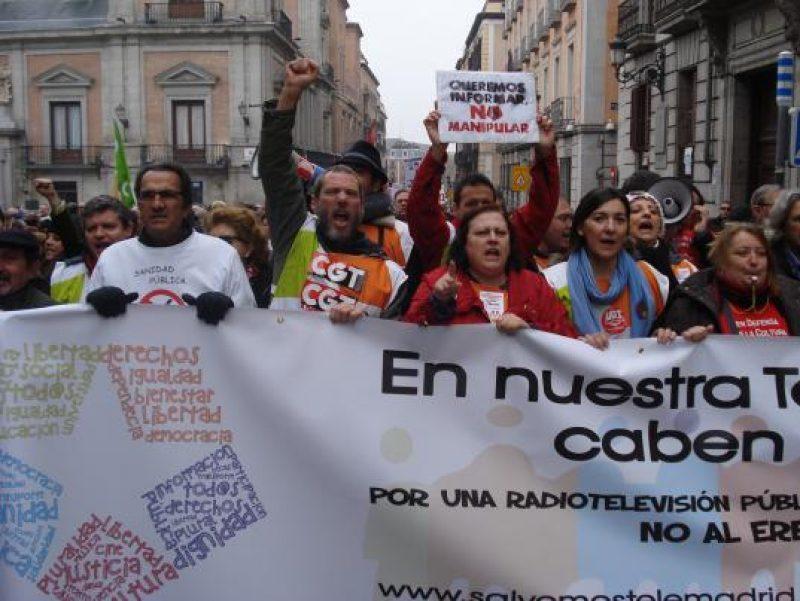 Manifestación en defensa de Telemadrid y contra el ERE en su primer aniversario - Imagen-2