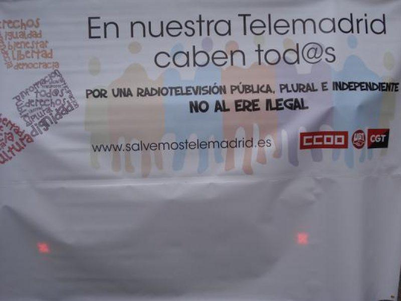 Manifestación en defensa de Telemadrid y contra el ERE en su primer aniversario - Imagen-3