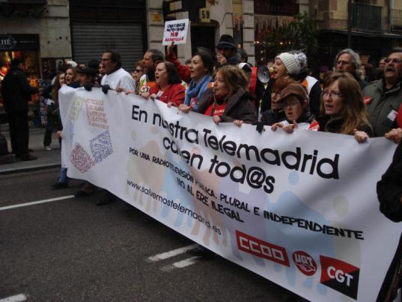 Manifestación en defensa de Telemadrid y contra el ERE en su primer aniversario - Imagen-4