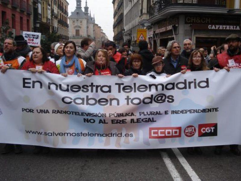 Manifestación en defensa de Telemadrid y contra el ERE en su primer aniversario - Imagen-5