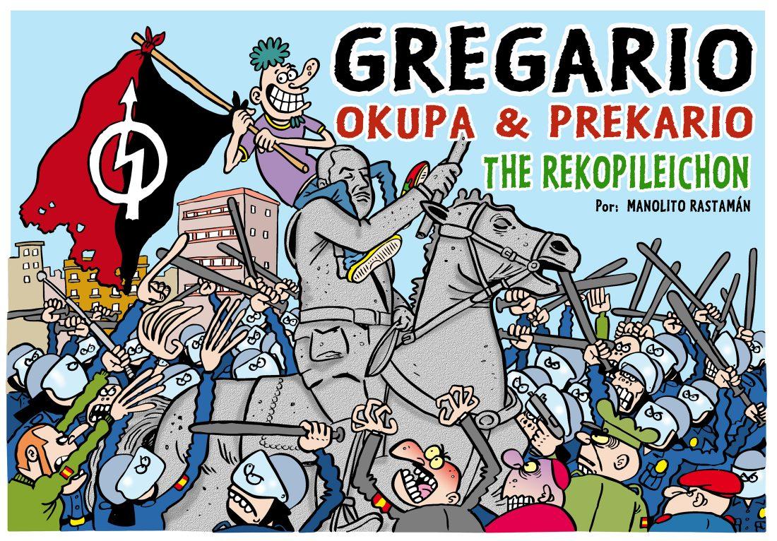 Presentación del cómic de Manolito Rastamán Gregario – Okupa & Precario