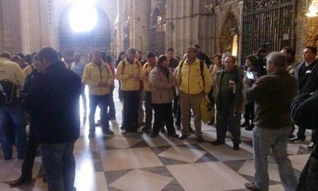 Delegados de la Agencia del Medio Ambiente y Agua de la Junta se encierran en la catedral de Sevilla