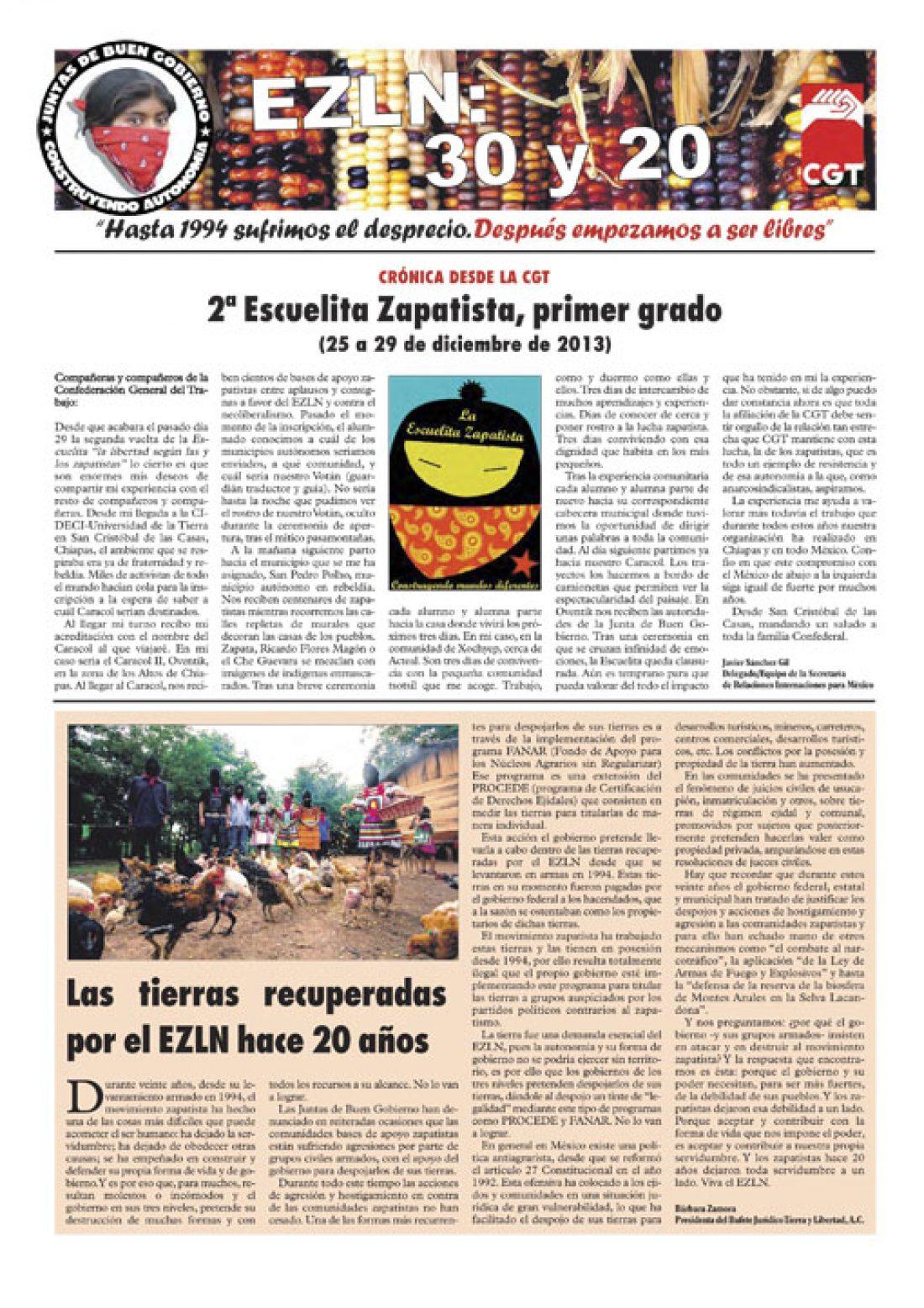 Especial EZLN – enero 2014