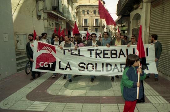Manifestación 1 de mayo (Lleida 1996)