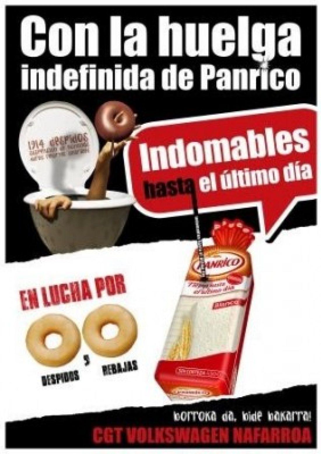 Acto con los trabajadores de Panrico Jueves 27 de Febrero y concierto solidario Sábado 1 Marzo.