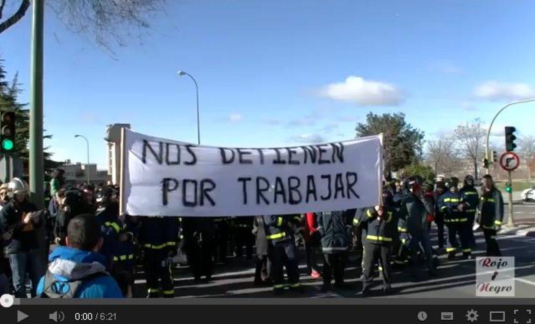Vídeo: Concentración Bomberos Madrid 1F2014