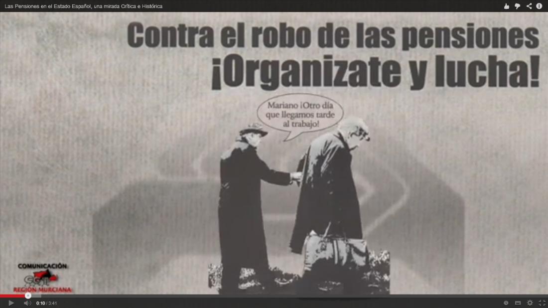 VIDEO: Las Pensiones en el Estado Español. Una Mirada Crítica e Histórica