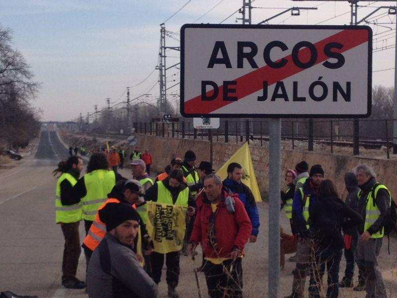 Saliendo de Arcos de Jalón