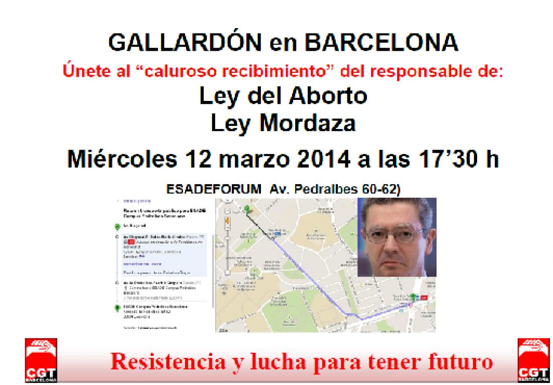 """Barcelona recibirá como """"se merece"""" al Ministro Gallardón"""