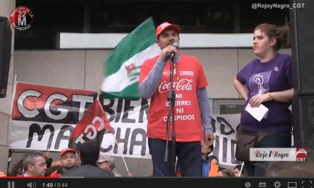 22M Getafe vibra con la llegada de la Marcha de la dignidad dia 21 #UnificarLasLuchas