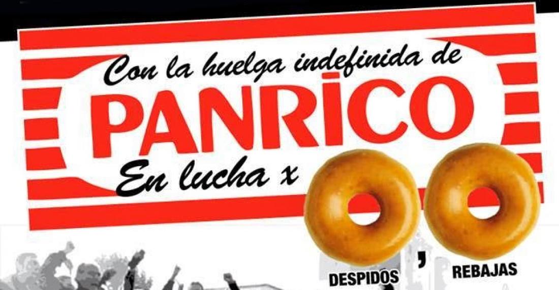 Concentración en solidaridad con la plantilla de Panrico