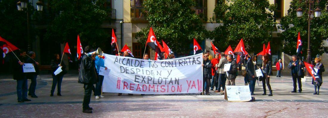 Concentración en Granada, Víctor readmisión