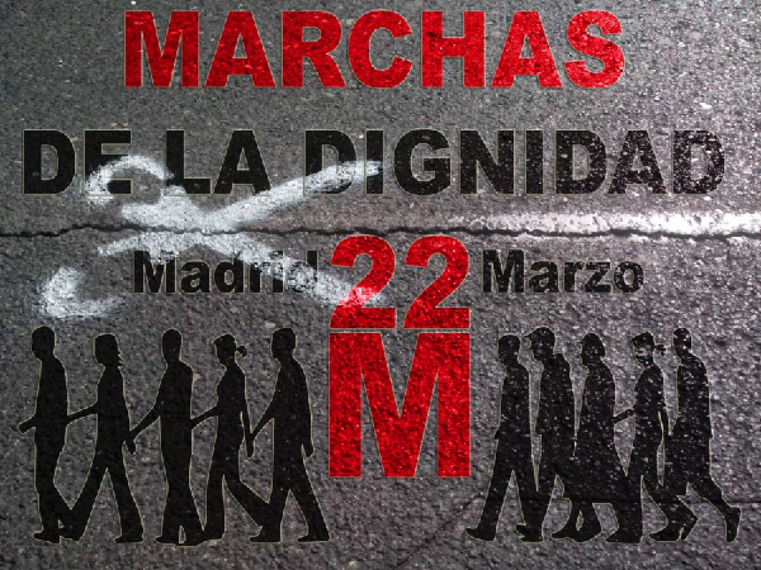 La CGT  se implica en las marchas por la dignidad