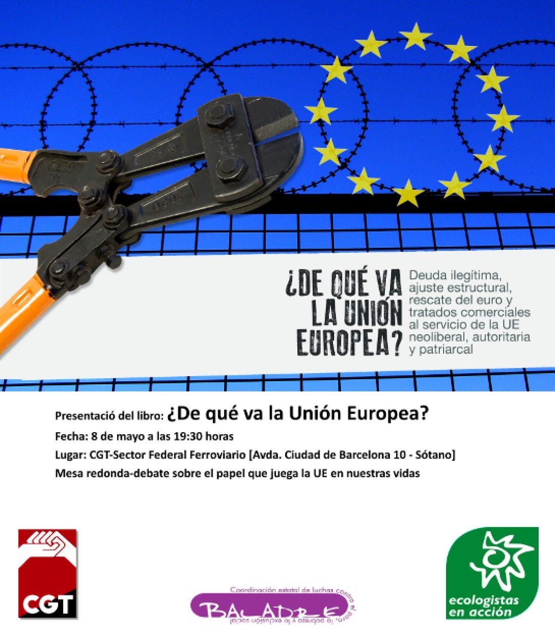 Presentación del libro: ¿De qué va la Unión Europea?