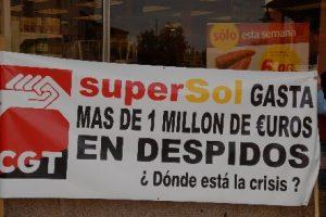CGT convoca el 16 y 19 de abril concentraciones en Supersol en todas las provincias andaluzas