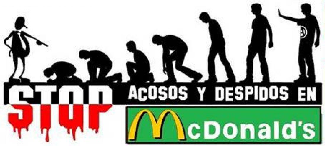 Concentración contra los Acosos y Despidos en McDonalds