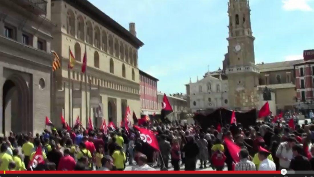 Vídeo 1 mayo, Zaragoza