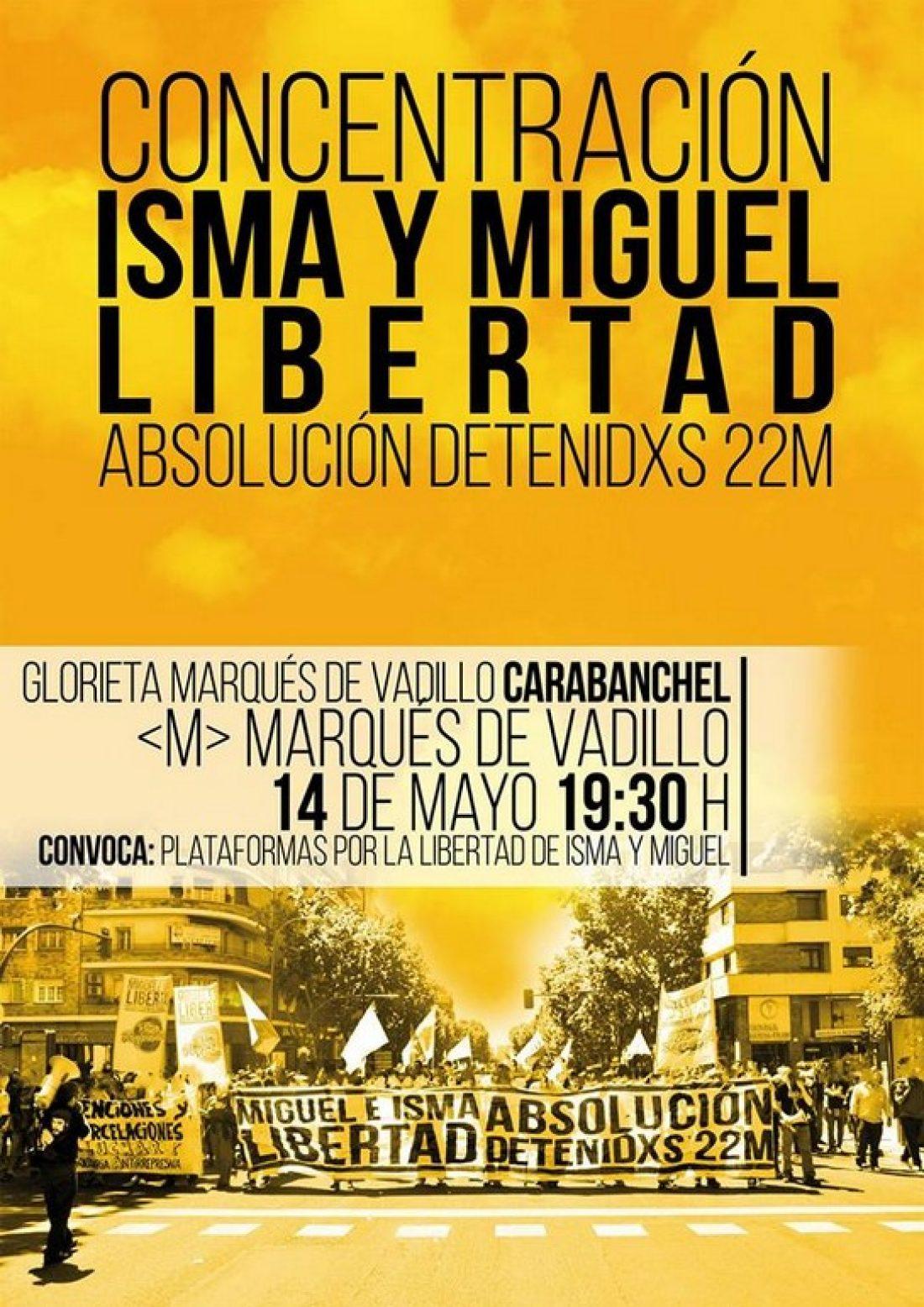 CGT apoya a Miguel e Isma