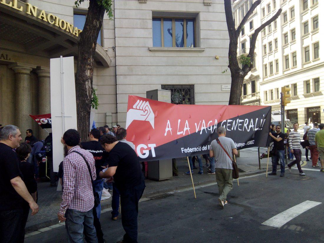 Manifestacion en Barcelona: CGT-METAL por un convenio digno